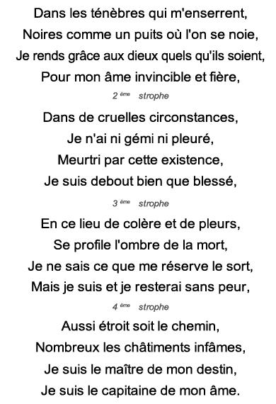 Exercice De Mémoire Poème En Puzzle Invictus De William