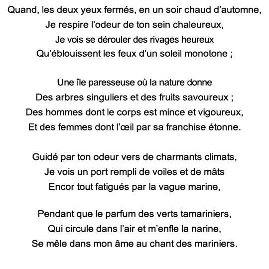 Exercice De Mémoire Poème En Puzzle Parfum Exotique De